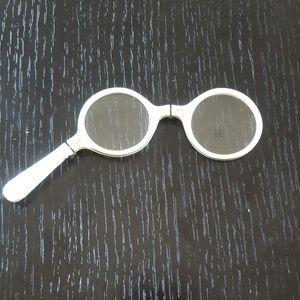 vintage handle held eyeglasses